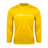 Syntrel Performance Gold Longsleeve Shirt-The Navigators