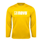Performance Gold Longsleeve Shirt-NAVS