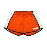 Ladies Orange/White Team Short-NAVS