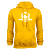 Gold Fleece Hoodie-Eagle Lake Badge