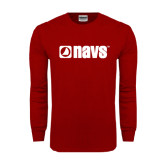 Cardinal Long Sleeve T Shirt-NAVS