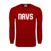 Cardinal Long Sleeve T Shirt-NAVS Collegiate Modern