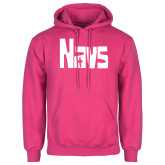 Fuchsia Fleece Hoodie-NAVS Cross in A