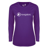 Ladies Syntrel Performance Purple Longsleeve Shirt-Navigators