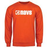 Orange Fleece Crew-NAVS