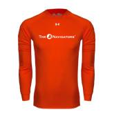 Under Armour Orange Long Sleeve Tech Tee-The Navigators