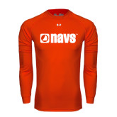 Under Armour Orange Long Sleeve Tech Tee-NAVS