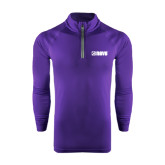 Under Armour Purple Tech 1/4 Zip Performance Shirt-NAVS