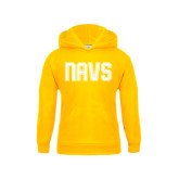 Youth Gold Fleece Hoodie-NAVS Collegiate Modern