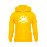 Youth Gold Fleece Hoodie-Eagle Lake Badge