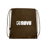Brown Drawstring Backpack-NAVS