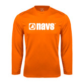 Syntrel Performance Orange Longsleeve Shirt-NAVS