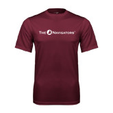 Performance Maroon Tee-The Navigators