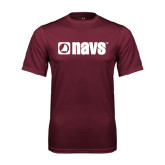 Performance Maroon Tee-NAVS