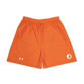 Under Armour Orange HeatGear Microshort w/Pockets-Navigators Sail