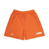 Under Armour Orange HeatGear Microshort w/Pockets-NAVS