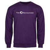 Purple Fleece Crew-The Navigators