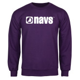Purple Fleece Crew-NAVS