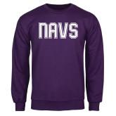 Purple Fleece Crew-NAVS Collegiate Modern