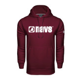 Under Armour Maroon Performance Sweats Team Hoodie-NAVS