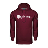 Under Armour Maroon Performance Sweats Team Hood-Glen Eyrie - Flat