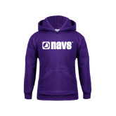 Youth Purple Fleece Hoodie-NAVS