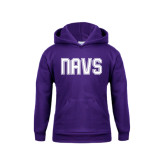Youth Purple Fleece Hoodie-NAVS Collegiate Modern