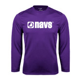 Syntrel Performance Purple Longsleeve Shirt-NAVS