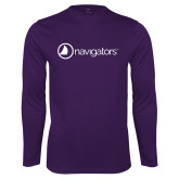 Performance Purple Longsleeve Shirt-Navigators