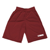 Midcourt Performance Maroon 9 Inch Game Short-NAVS