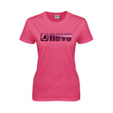 Ladies Fuchsia T Shirt-NAVS Foil