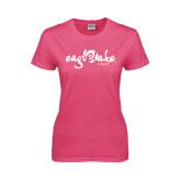 Ladies Fuchsia T Shirt-Eagle Lake Camps