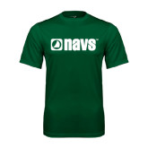 Performance Dark Green Tee-NAVS