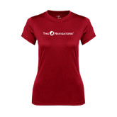 Ladies Syntrel Performance Cardinal Tee-The Navigators