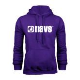 Purple Fleece Hood-NAVS