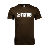 Next Level SoftStyle Brown T Shirt-NAVS