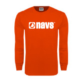 Orange Long Sleeve T Shirt-NAVS