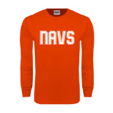 Orange Long Sleeve T Shirt-NAVS Collegiate Modern