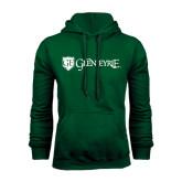 Dark Green Fleece Hood-Glen Eyrie - Flat