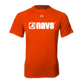 Under Armour Orange Tech Tee-NAVS