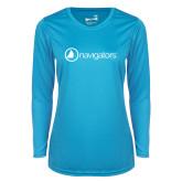 Ladies Syntrel Performance Light Blue Longsleeve Shirt-Navigators