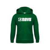 Youth Dark Green Fleece Hoodie-NAVS