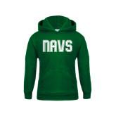 Youth Dark Green Fleece Hoodie-NAVS Collegiate Modern