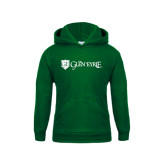 Youth Dark Green Fleece Hoodie-Glen Eyrie - Flat