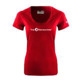 Ladies Under Armour Cardinal Tech Tee-The Navigators