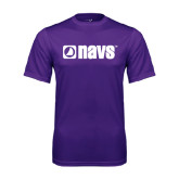 Performance Purple Tee-NAVS