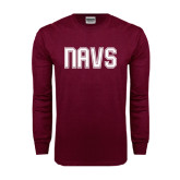 Maroon Long Sleeve T Shirt-NAVS Collegiate Modern