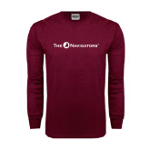 Maroon Long Sleeve T Shirt-The Navigators