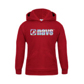 Youth Cardinal Fleece Hoodie-NAVS Foil