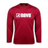 Syntrel Performance Cardinal Longsleeve Shirt-NAVS